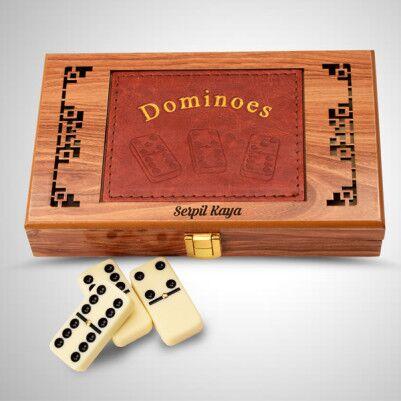 Kişiye Özel Ahşap Domino Seti - Thumbnail