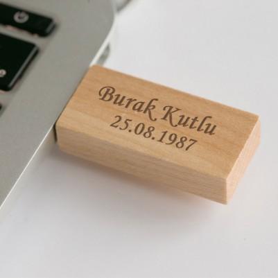 Kişiye Özel Ahşap USB Bellek - Thumbnail