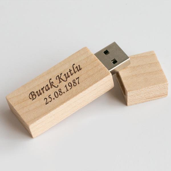 Kişiye Özel Ahşap USB Bellek