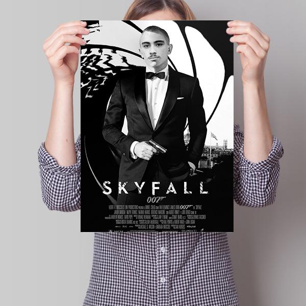 Kişiye Özel Ajan Temalı Film Posteri