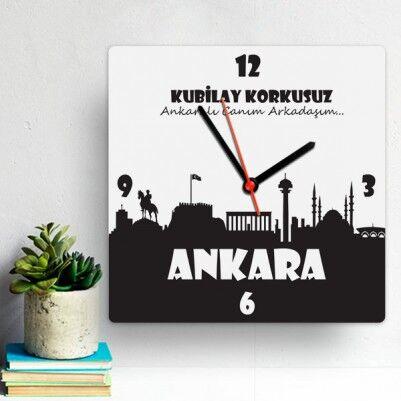 - Kişiye Özel Ankara Temalı Duvar Saati