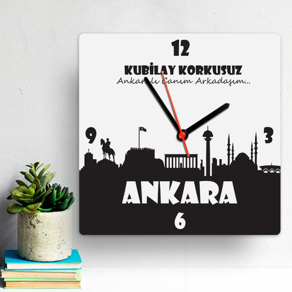 Kişiye Özel Ankara Temalı Duvar Saati