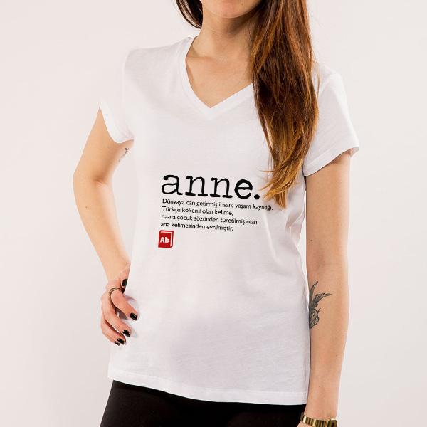Kişiye Özel Anne Sözcüğü Ne Anlama Gelir Tişörtü