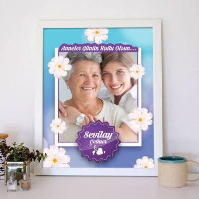 Kişiye Özel Anneler Günü Temalı Poster - Thumbnail