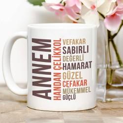 - Kişiye Özel Annem Kahve Kupası