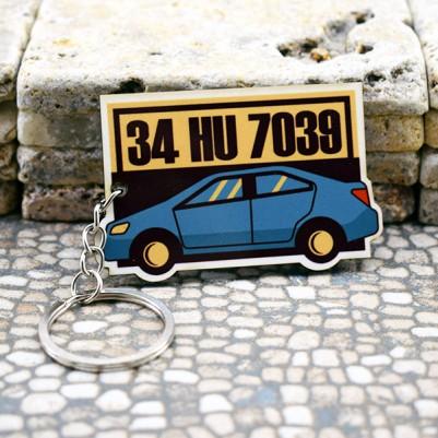 - Kişiye Özel Araba İkonlu Plakalı Anahtarlık