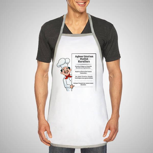 Kişiye Özel Aşçının Kuralları Mutfak Önlüğü