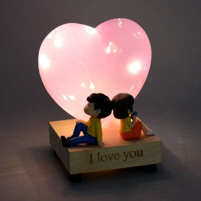 - Kişiye Özel Aşık Sevgililer Işıklı Biblo