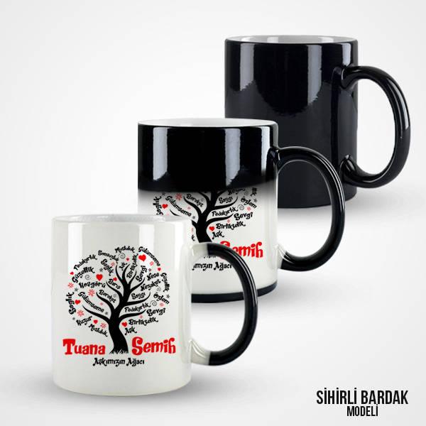 Kişiye Özel Aşk Ağacımız Kupa Bardak