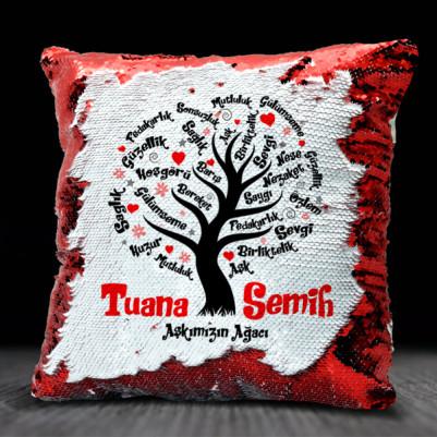 - Kişiye Özel Aşk Ağacımız Sihirli Yastık