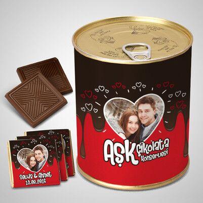 - Kişiye Özel Aşk Çikolata Konservesi