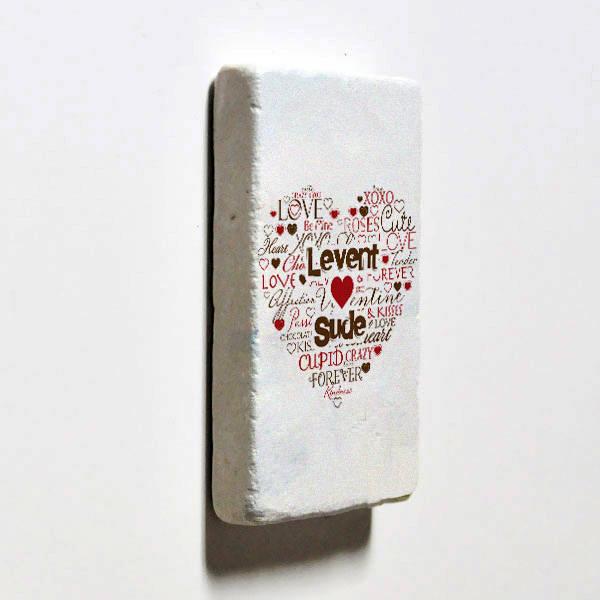 Kişiye Özel Aşk Dolu Buzdolabı Magneti