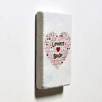 Kişiye Özel Aşk Dolu Buzdolabı Magneti - Thumbnail