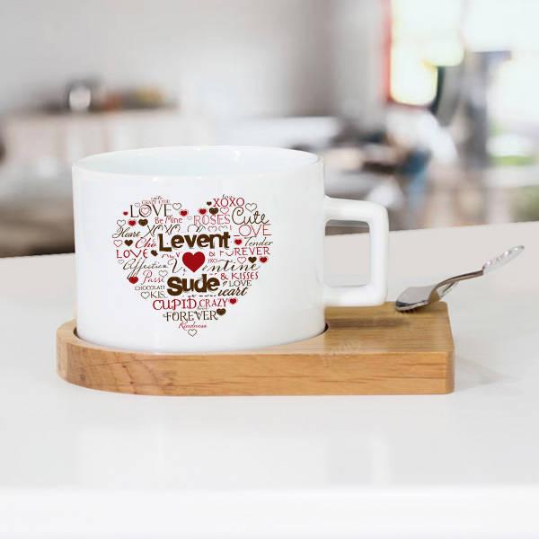 Kişiye Özel Aşk Dolu Çay Fincanı