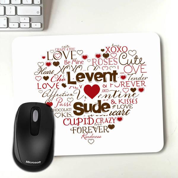 Kişiye Özel Aşk Dolu Mousepad
