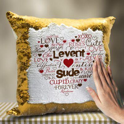 Kişiye Özel Aşk Dolu Sihirli Yastık - Thumbnail