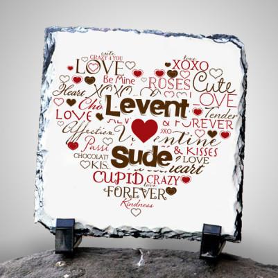 - Kişiye Özel Aşk Dolu Taş Baskı