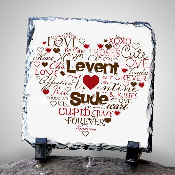 Kişiye Özel Aşk Dolu Taş Baskı