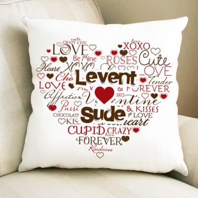 - Kişiye Özel Aşk Dolu Yastık