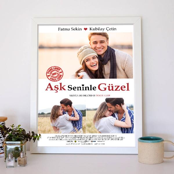 Kişiye Özel Aşk Seninle Güzel Film Afişi