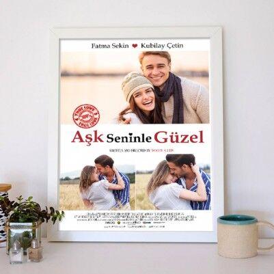 Kişiye Özel Aşk Seninle Güzel Film Afişi - Thumbnail