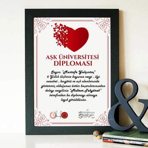 Kişiye Özel AŞK Üniversitesi Diploması