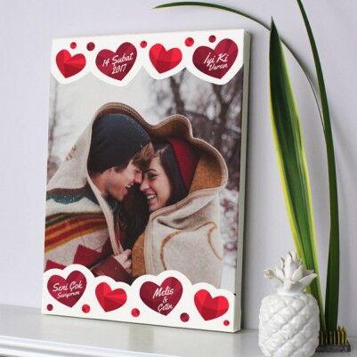 Kişiye Özel Aşkın Tablosu Kanvas - Thumbnail