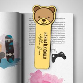 - Kişiye Özel Ayıcık Kitap Ayracı