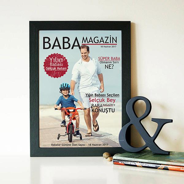 Kişiye Özel Baba Magazin Dergi Kapağı
