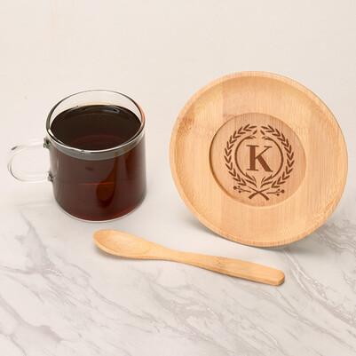 - Kişiye Özel Baş Harfli Cam Kahve Fincanı