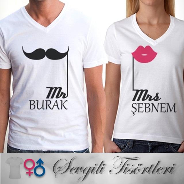 Kişiye Özel Bay ve Bayan 2'li Tişört