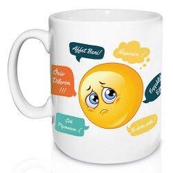 Kişiye Özel Beni Affet Emoji Kupa Bardak - Thumbnail