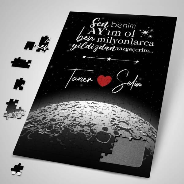Kişiye Özel Benim Ay'ım Ol Puzzle