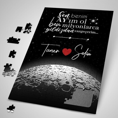 - Kişiye Özel Benim Ay'ım Ol Puzzle