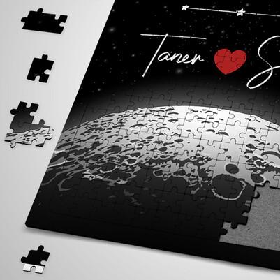 Kişiye Özel Benim Ay'ım Ol Puzzle - Thumbnail