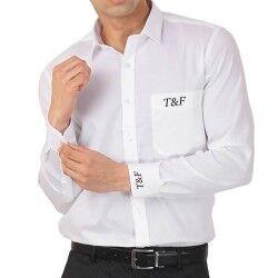 Kişiye Özel Beyaz Erkek Gömlek - Thumbnail