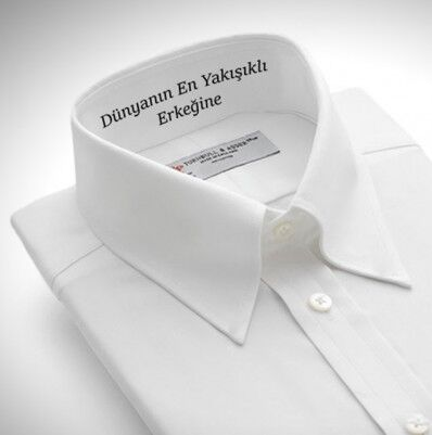 - Kişiye Özel Beyaz Erkek Gömlek