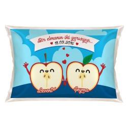 Kişiye Özel Bir Elmanın İki Yarısı Yastık - Thumbnail