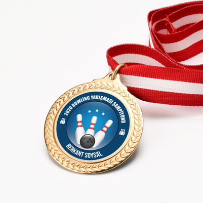 Kişiye Özel Bowling Şampiyonu Madalyon - Thumbnail