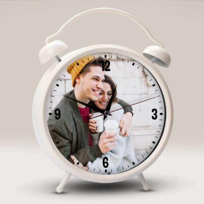 - Kişiye Özel Büyük Boy Saat Beyaz