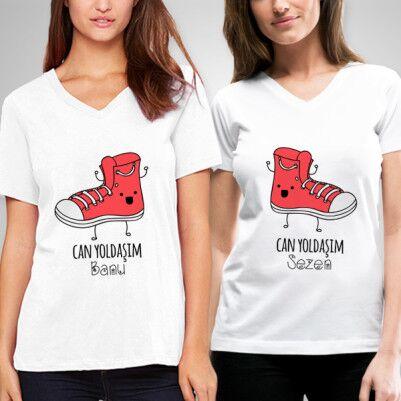 - Kişiye Özel Can Yoldaşım Arkadaşlık Tişörtü