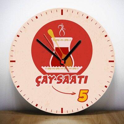 - Kişiye Özel Çay Saati Duvar Saati