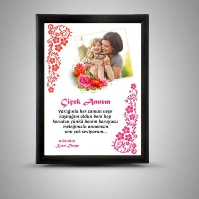 Kişiye Özel Çiçek Annem Sertifikası - Thumbnail