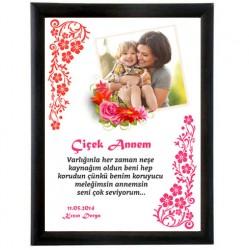 - Kişiye Özel Çiçek Annem Sertifikası