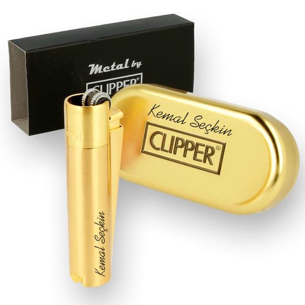 Kişiye Özel Clipper Çakmak GOLD