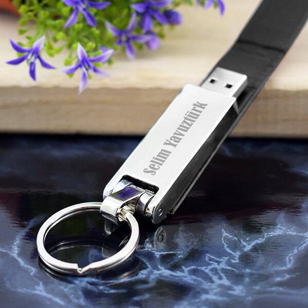 Kişiye Özel Deri Kılıflı USB Bellek 16 GB