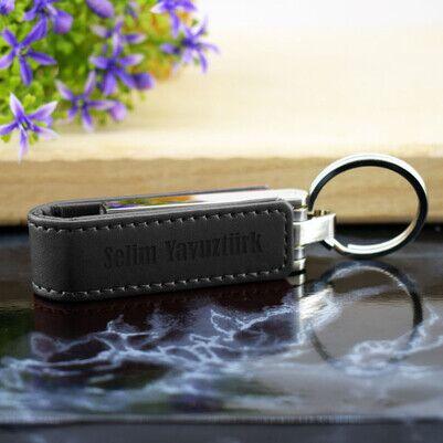 - Kişiye Özel Deri Kılıflı USB Bellek 16 GB