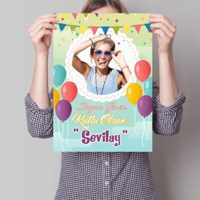 - Kişiye Özel Doğum Günü Posteri