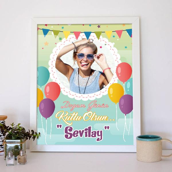 Kişiye Özel Doğum Günü Posteri
