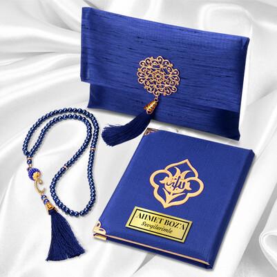 - Kişiye Özel Dualar Kitabı Hediye Seti - Mavi